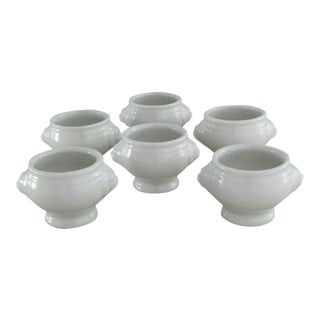 Porcelain Lion Egg Cups - Set of 6