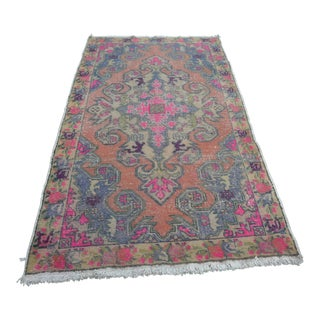 Turkish Oushak Floor Rug - 4′4″ × 8′1″