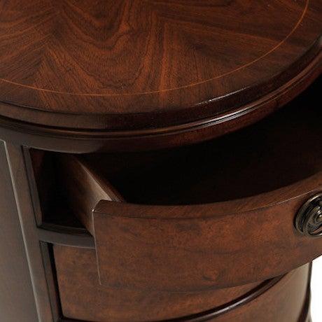 Myrtle Burl Oval Side Table - Image 6 of 6