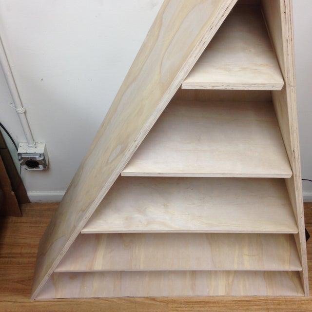Triangular Natural Maple Bookshelf - Image 6 of 8