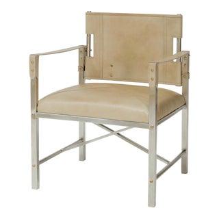 Palecek Pankhurst Beige Leather Chair