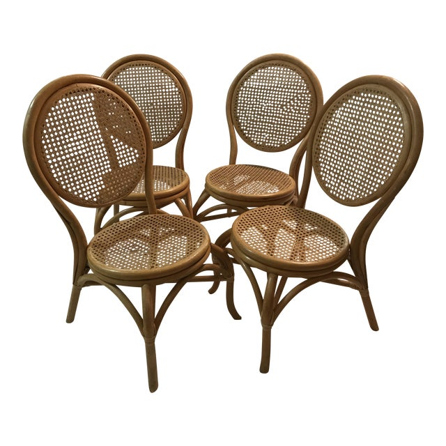 Sheet Cane Bentwood Bistro Chairs - Set of 4 - Image 1 of 10