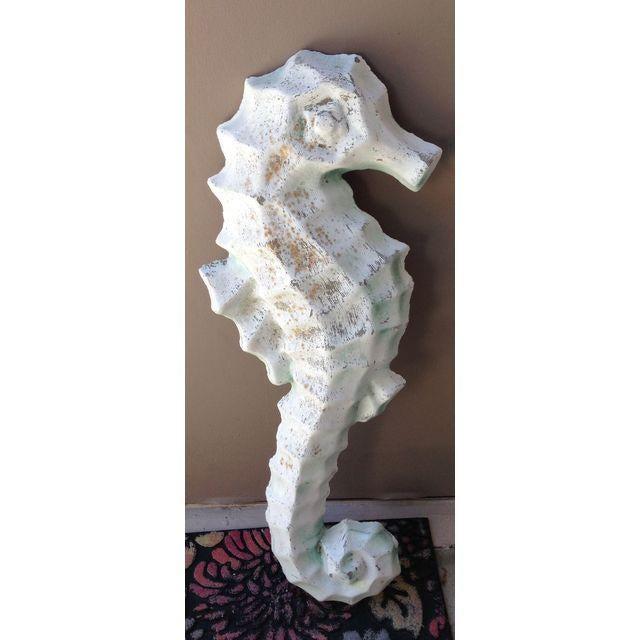 Vintage Nautical Decor Sale: Vintage Nautical Cement Seahorse Wall Decor