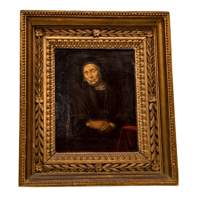 Abraham VanDyck Painting - Old Woman - Image 1 of 4