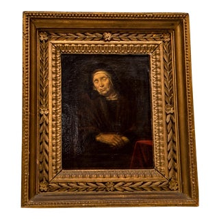 Abraham VanDyck Painting - Old Woman