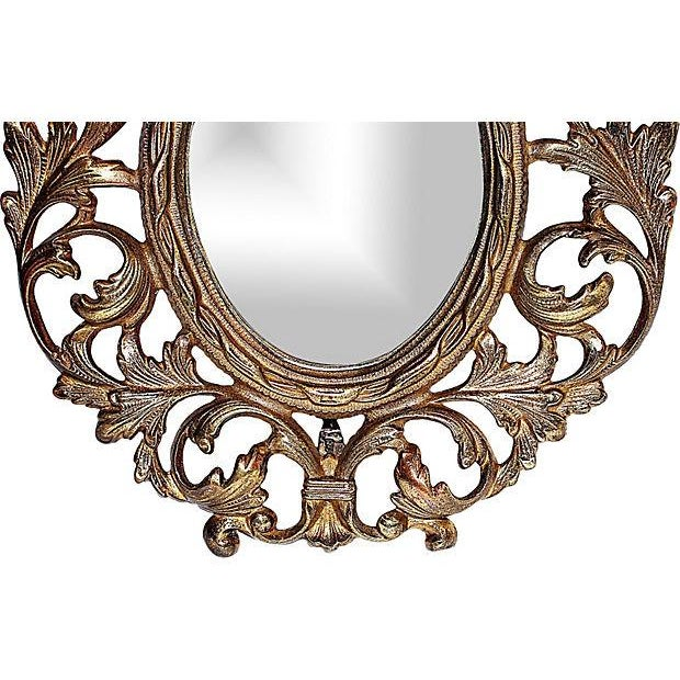 Victorian-Style Brass Mirror - Image 3 of 5