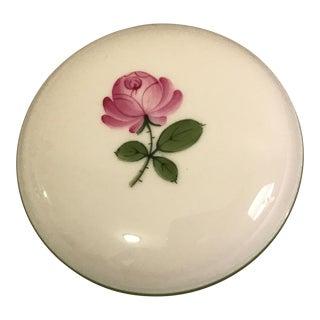 Vintage Vienna Wien Augarten Pink Rose Lidded Dish