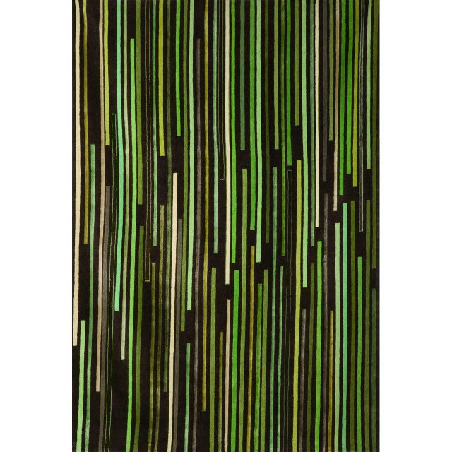 """Tiny Stripes"" Rug by Emma Gardner - Image 2 of 5"