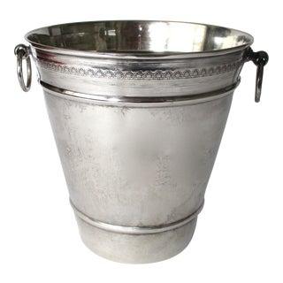 Antique 800 Silver Ice Bucket