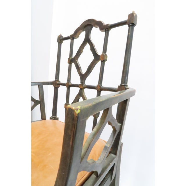 Vintage Chinoiserie Style Wooden Chair - Image 7 of 8