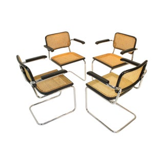 Cane Chairs in Style of Cesca by Knoll - Set of 4