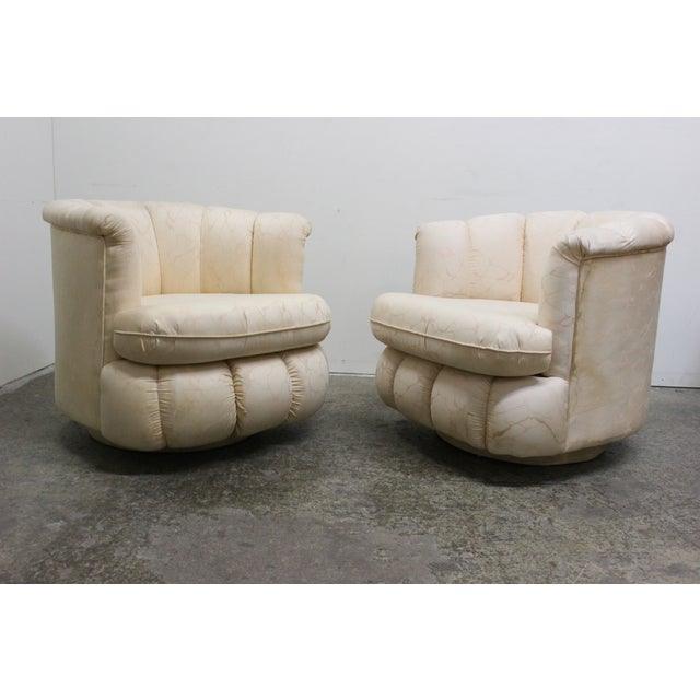 80s Glam Swivel Chairs - A Pair - Image 3 of 7