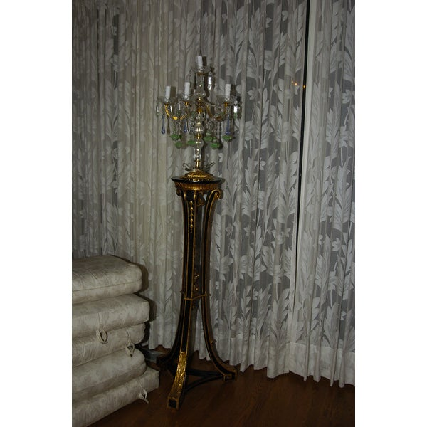 Venetian Crystal & Glass Candelabras - A Pair - Image 3 of 3
