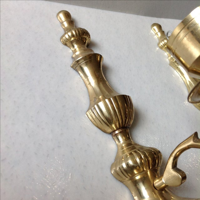 Brass Wall Sconce Candle Holders - Pair Chairish