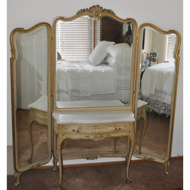 Vintage 1920s French Louis XV Style Vanity - Image 2 of 11