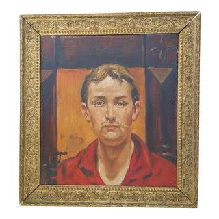 Vintage Fine Art Study Portrait Painting