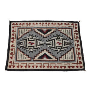 1920's-30's Two Grey Hills Navajo Weaving Rug