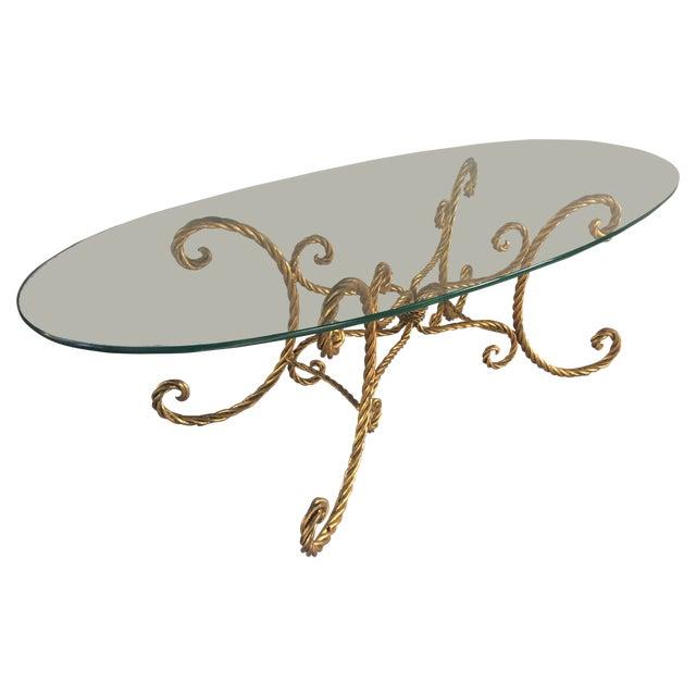 Image of Gilt Iron Coffe Table