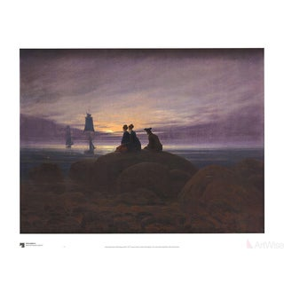 Caspar David Friedrich Moonrise at Sea Poster