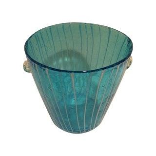 Mid Century Murano Glass Ice Bucket