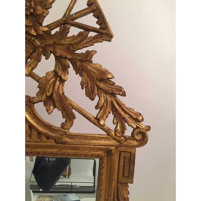 Image of Neoclassical Gold Leaf Mirror