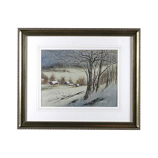 Wintry Country Village