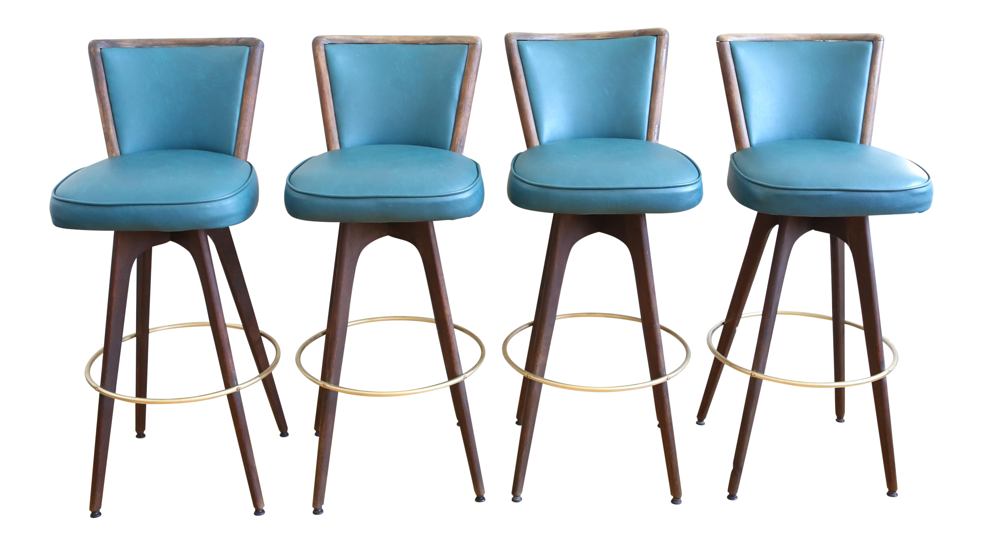 mid century modern vintage swivel bar counter stools set of 4