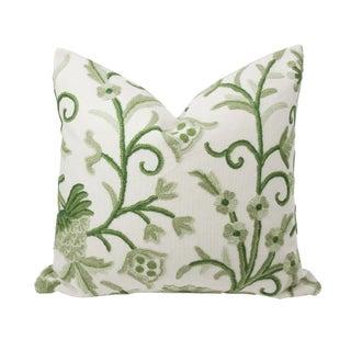 Vintage Fern Green Kashmiri Pillow