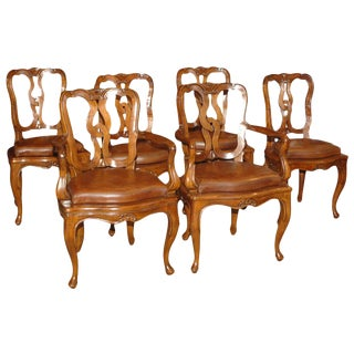 Venetian Walnut Chairs - Set of 6
