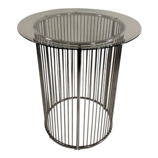 Vintage Platner Style Round Chrome Table