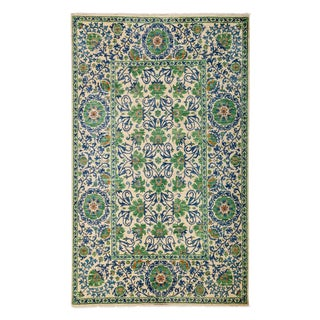 """Suzani Hand-Knotted Rug - 6' 1"""" x 9' 10"""""""