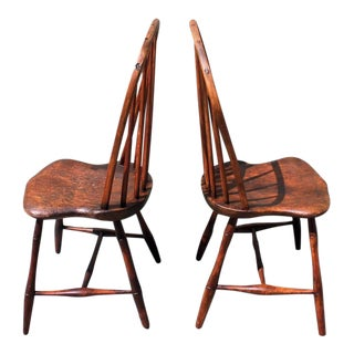 Pair of 18th Century Old Surface Windsor Chairs from New England