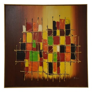 Original Mid Century Abstract Painting