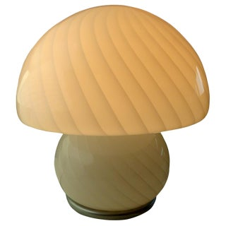 Gino Vistosi Style Murano Art Glass Mushroom Lamp