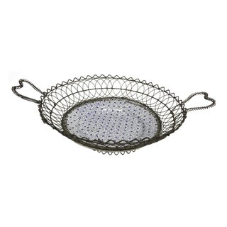 1900s Villeroy & Boch Ceramic Plate Bread Basket