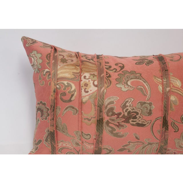 Pink and Gold Deconstructed Pillow - Image 4 of 5