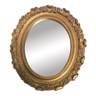 Italian Style Carved Gold Gilt Oval Mirror