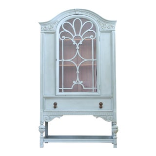 Berkey & Gay Antique Shabby Chic China Cabinet Curio