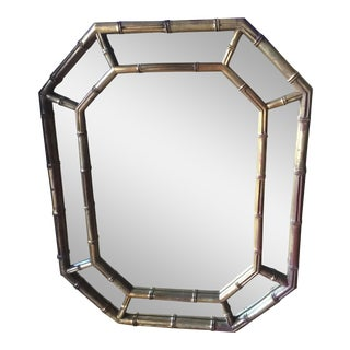 Gilded Vintage Bamboo Mirror