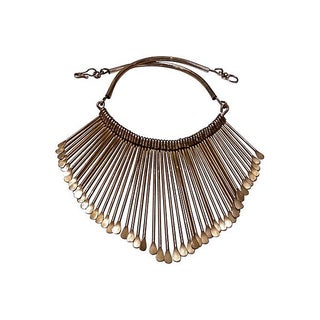 Brass Tribal Fringe Necklace