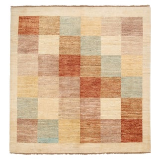 "Gabbeh Hand Knotted Area Rug - 5'1"" X 5'4"""