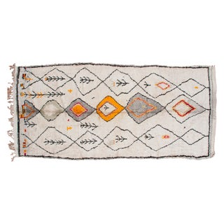 "Vintage Moroccan Rug Runner - 4'3"" X 9'4"""