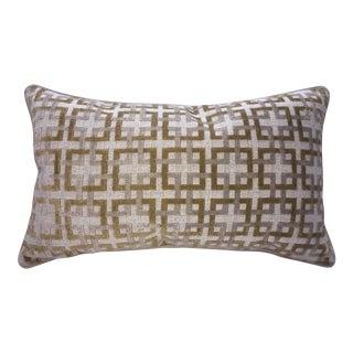 Belgian Epingle Raised Velvet Accent Pillow