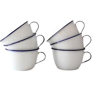 Vintage Ker Enamelware Mugs - Set of 6