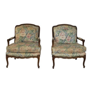 Baker Bergere Chairs - Pair
