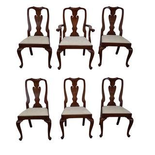 Henkel Harris Cherry Wood Queen Anne Chairs - 6