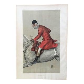 1897 Vanity Fair Fox Hunter Blackmore Vale Lithograph