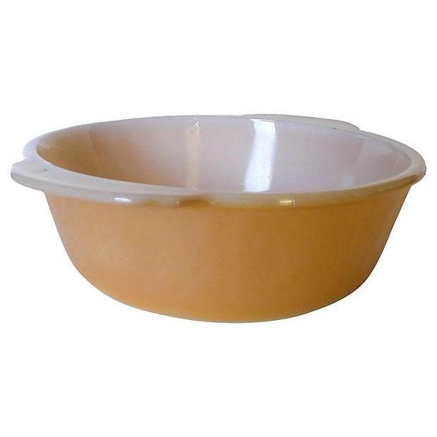 Image of Fireking Vintage Brown & White Mixing Bowl