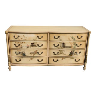 Mid-Century Chinoiserie Painted and Patinated Dresser