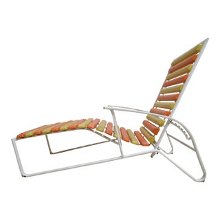 Vintage Mid-Century Outdoor Wave Chaise Lounge